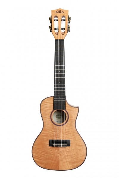 Kala Solid Flame Maple Konzert Cutaway